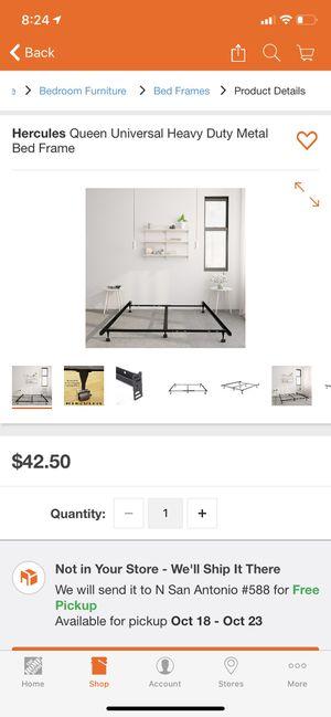 Hercules Queen Universal Heavy Duty Metal Bed Frame for Sale in Laredo, TX