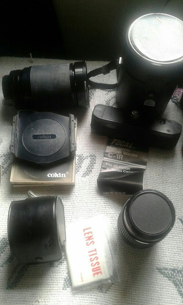 Canon AE1 and lenses very good condition