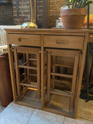 Kitchenette table with 2 stools for Sale in New York, NY
