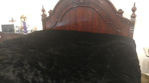 Custom made Black Velvet Bed Cover for Sale in Fairfax, VA