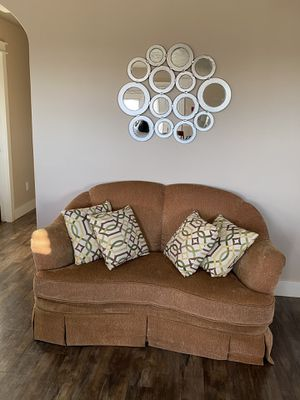 Light brown rocking couch/loveseat for Sale in Caldwell, ID