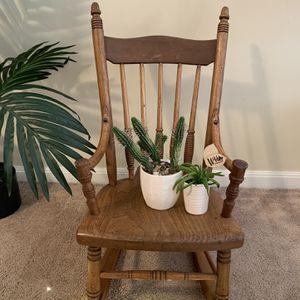 Vintage Children's Wooden Rocking Chair for Sale in Summit, IL