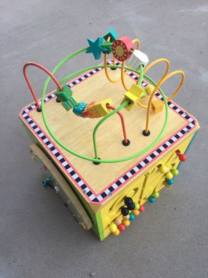 Wood activity cube / wooden activity learning center toy for Sale in Glendale, AZ