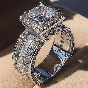 Forever Love Radiant Cut Lab Created Diamond 14K White Gold Engagement Ring Size 6-7-8 for Sale in Rockville, MD