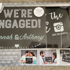 Wedding Chalkboard Set With 3 Chalkboards And Chalk for Sale in Las Vegas, NV