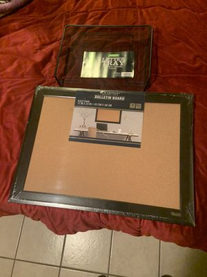 New Bulletin Board and Letter Tray for Sale in Downey, CA