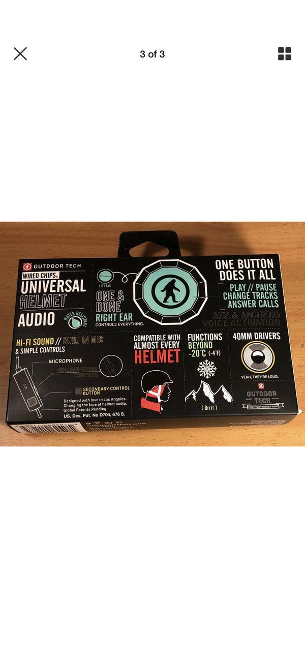 Outdoor Tech Headphones Chips Universal Wireless Bluetooth Helmet Audio
