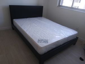 $325 Queen bed with mattress brand new free delivery for Sale in Hollywood, FL