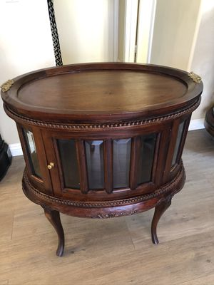 Antique Tea Table with Serving Tray for Sale in Ontario, CA