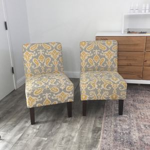 Set Of Patterned Upholstered Chairs for Sale in Monterey, CA