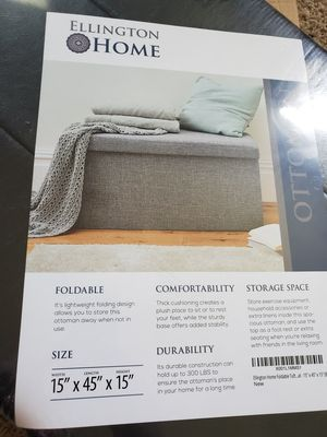 Foldable Leather Ottoman for Sale in Smyrna, TN