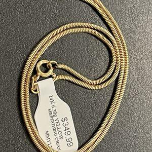 (709518-6) 14k Serpentine Chain 16 Inches for Sale in Phoenix, AZ