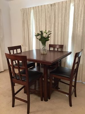 Pub Style Table with Shelves 4 Chairs for Sale in Norwalk, CA