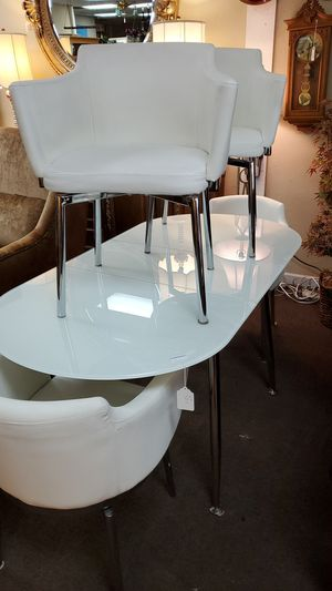 Glass top table with 4 chairs for Sale in Greenacres, FL