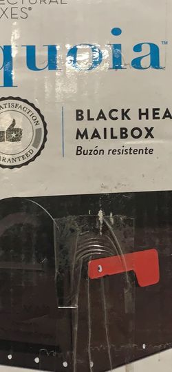 Architectural Mailboxes Sequoia Black Heavy Duty Post Mount Mailbox for Sale in Los Angeles,  CA