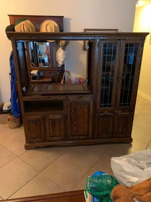 Solid wood entertainment center for Sale in Corinth, TX