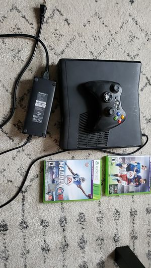 Xbox360 with controller and two games for Sale in Chicago, IL