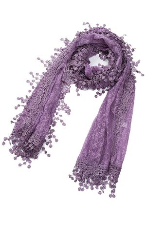 Lightweight Soft Leaf Lace Fringes Scarf shawl for Women for Sale in Fresno, CA