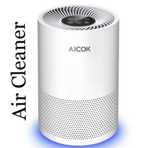 Aicok Air Purifier with True HEPA Filter and Optional Night Light, Air Cleaner Air Filter for Sale in Ontario, CA