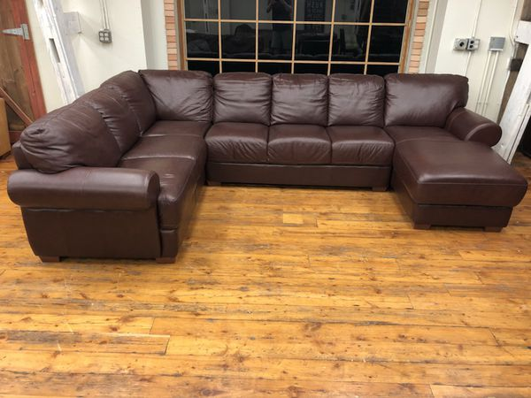 divani chateau d ax top grain italian leather sectional