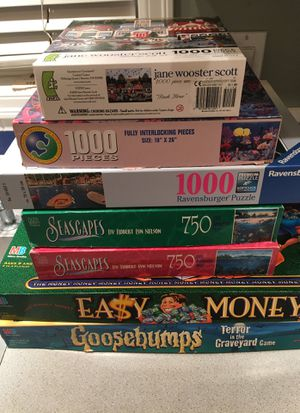 2 board games & 5 puzzles for Sale in Portland, OR