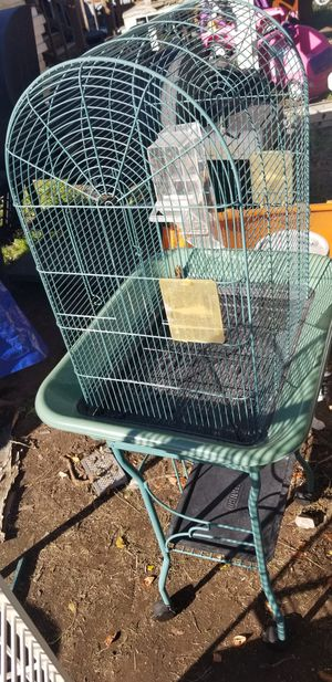 Bird cage with stand for Sale in Puyallup, WA