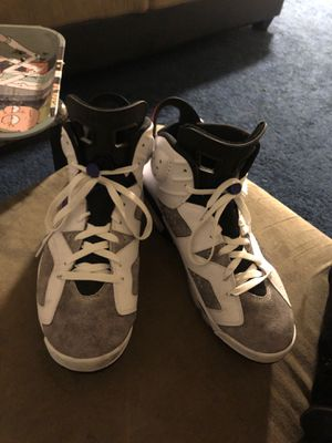 Gray and white Air Jordan 6s retro ltr for Sale in Washington, DC
