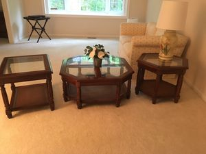 Matching end tables and cocktail table for Sale in Oakton, VA