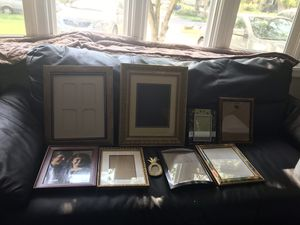 Variety size picture frame Total nine picture frame for Sale in Alexandria, VA