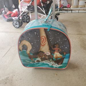 Moana kids travel suitcase for Sale in Wood Dale, IL