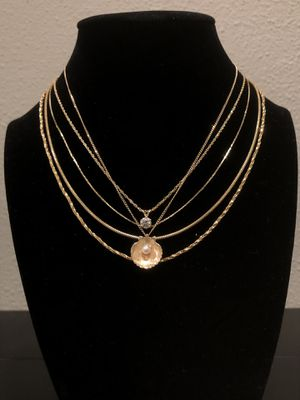 14k Gold Chains starting @ $70. Flat chain, Round chain & Twisted chain. for Sale in San Francisco, CA