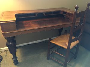 Antique wooden secretary desk for Sale in Puyallup, WA