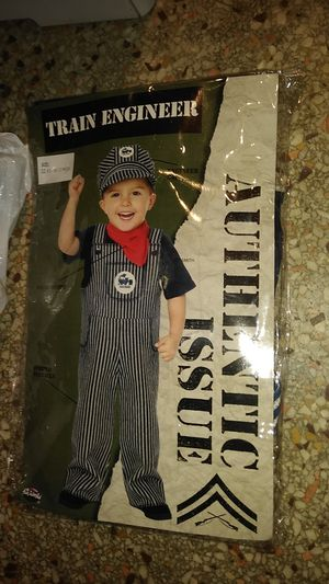6-12 mth train engineer costume for Sale in Haines City, FL