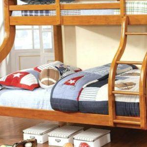 Bunk bed Twin Full Oak Extra Heavy Duty Clearance for Sale in Atlanta, GA