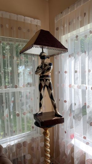 Antique Clown Lamp With Stand for Sale in Lawrence Township, NJ