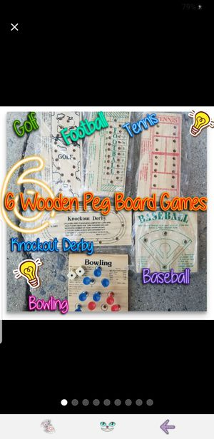 6 Wooden Peg Board Games for Sale in Doubs, MD