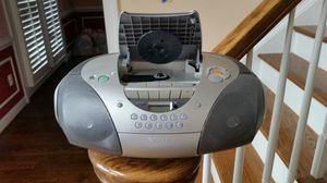 SONY STEREO PORTABLE BOOM BOX WITH CD RADIO CASETTE CFD-S300 for Sale in Leesburg, VA