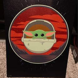 Baby Yoda Wall Canvas  for Sale in Houston, TX