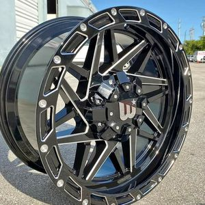 "Brand New 20"" WB 20X10 5x150 / 5x139.7 Black Milled Wheels for Sale in Miami, FL"