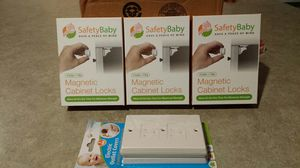 Magnetic cabinet locks and electric outlet covers for Sale in Seattle, WA