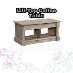 NEW IN BOX Palladia Lift Top Coffee Table, Split Oak Finish for Sale in Whittier,  CA