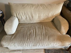 Tan love seat couch for Sale in Pensacola, FL
