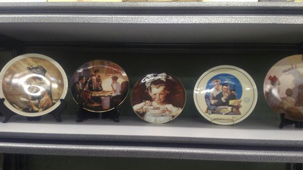 Collector Norman Rockwell plates