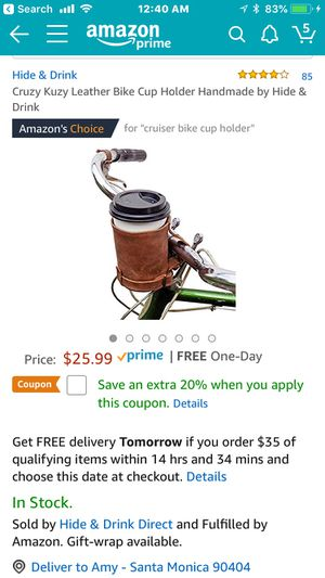 Bicycle cup holder for Sale in Los Angeles, CA
