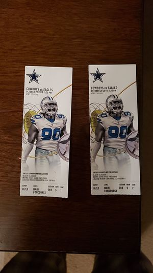 Cowboys vs Eagles for Sale in Arlington, TX