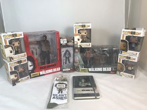 Funko Pop Mcfarlane Toys The Walking Dead Figure Lot for Sale in Temple City, CA