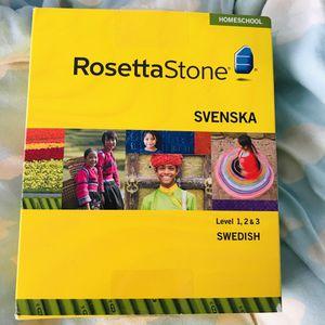 RosettaStone Swedish Svenska Windows/Mac CD-ROM Set for Sale in Port St. Lucie, FL