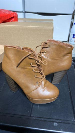Brown high heel boots for Sale in Rosemead, CA