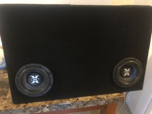 Subwoofers xfire 6.5 and custom ported box tacoma for Sale in Phoenix, AZ