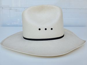 Stetson JBS XXXXXXXX 8x Panama Straw 7 3/4 Cowboy Hat, Hatband Sm Guitar pin for Sale in Rancho Cucamonga, CA